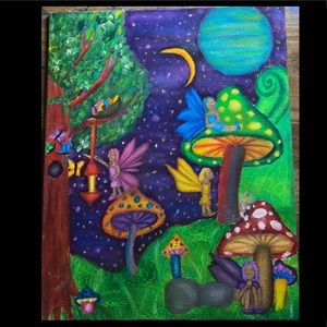 Fairy land oil painting